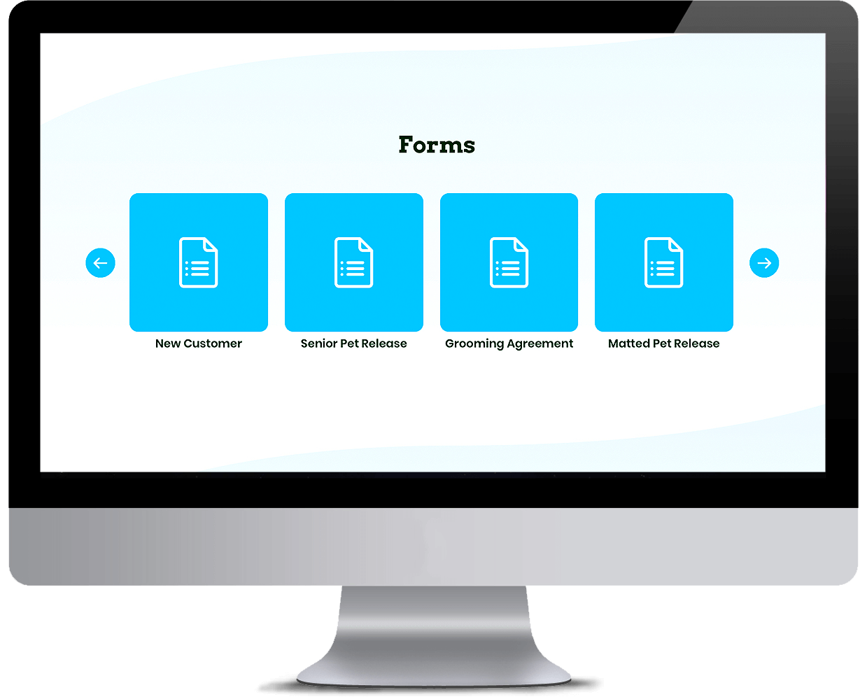 Pet services management system Forms Library