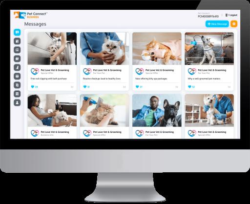Pet Connect Pet services management system desktop view